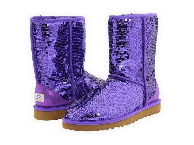 Ugg 2013 Classic Short Sparkles 3161 Purple UK   Womens