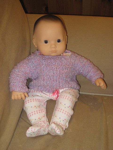 e2bd98c40 Doll sweater for american girl and bitty baby - free knit pattern ...