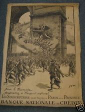 Banque Nationale French World War I Poster WWI WW1