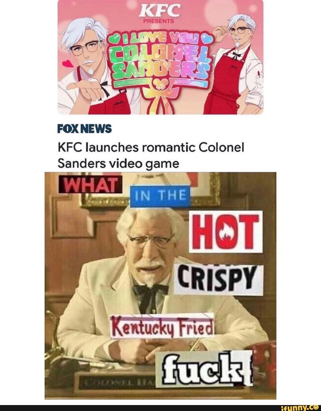 Fox news kfc launches romantic colonel sanders vide o game