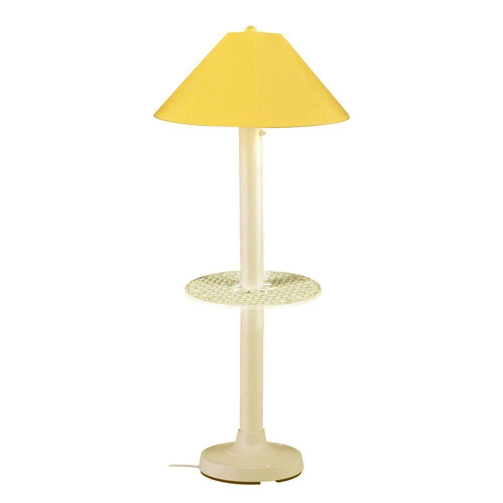 63 5 In Bisque Outdoor Floor Lamp