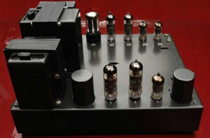 Leak Stereo 20 valve amplifier in dark grey.