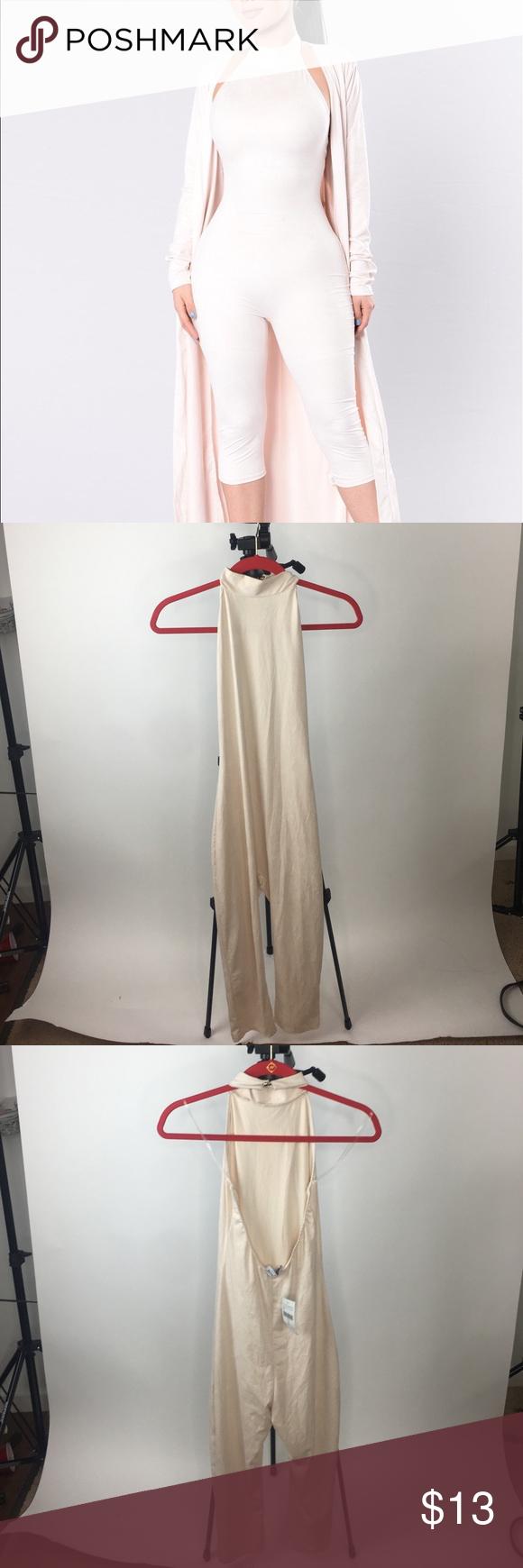 04f1c34aba20 Fashion Nova Shattered Glass Jumpsuit Nude