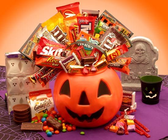Its a monster mash gift basket this ghoulish plastic jack o holiday gift baskets negle Gallery