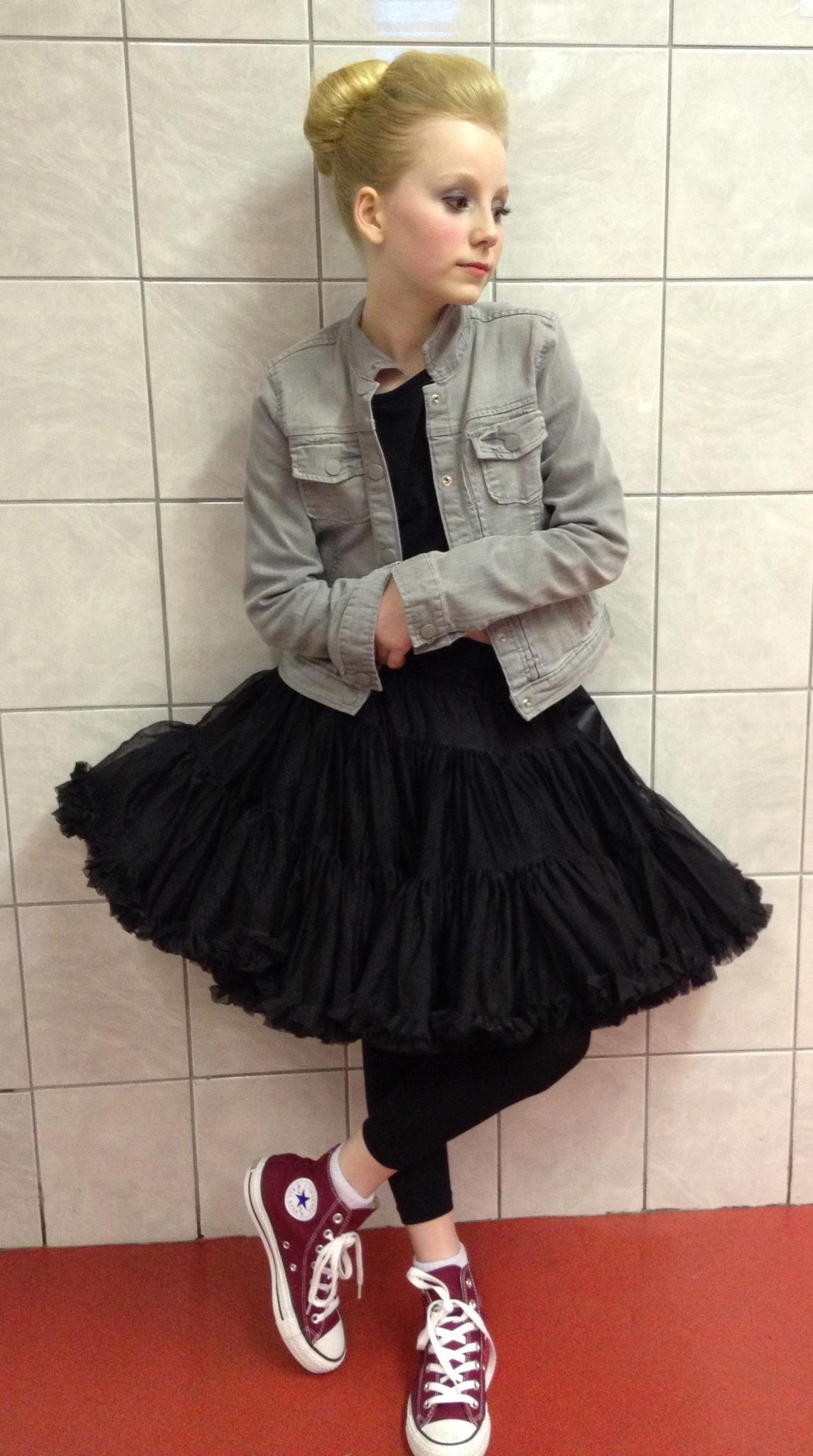 79ab5d0d0fe0 Super cute in her tutu and hi top Converse  FreshOutTheBox