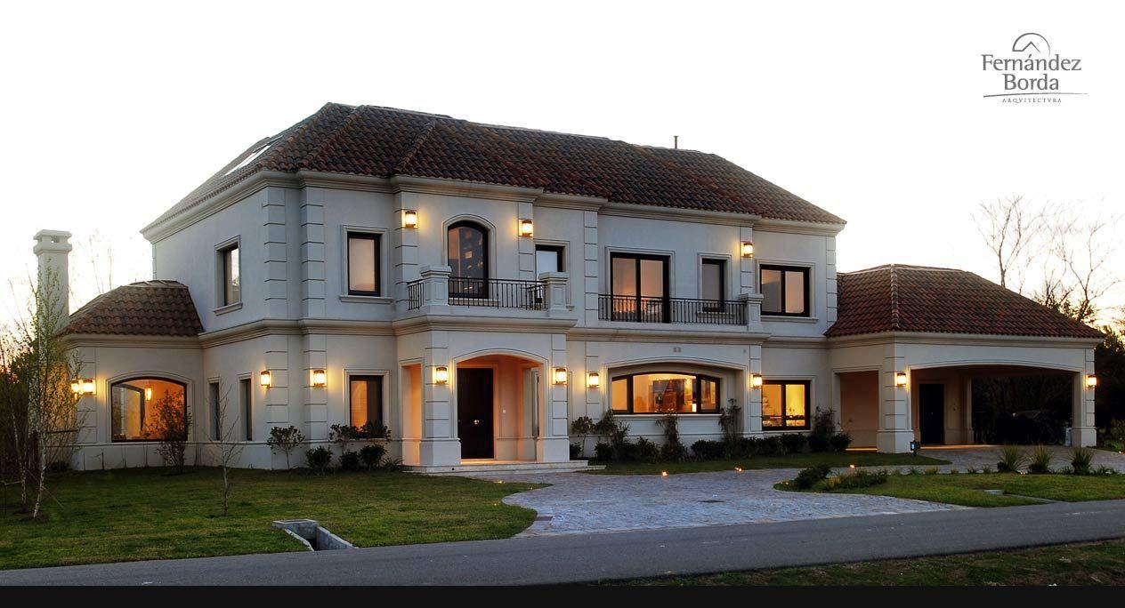 Fernandez borda casas clasicas classic houses en 2019 for Fachadas de casas estilo clasico