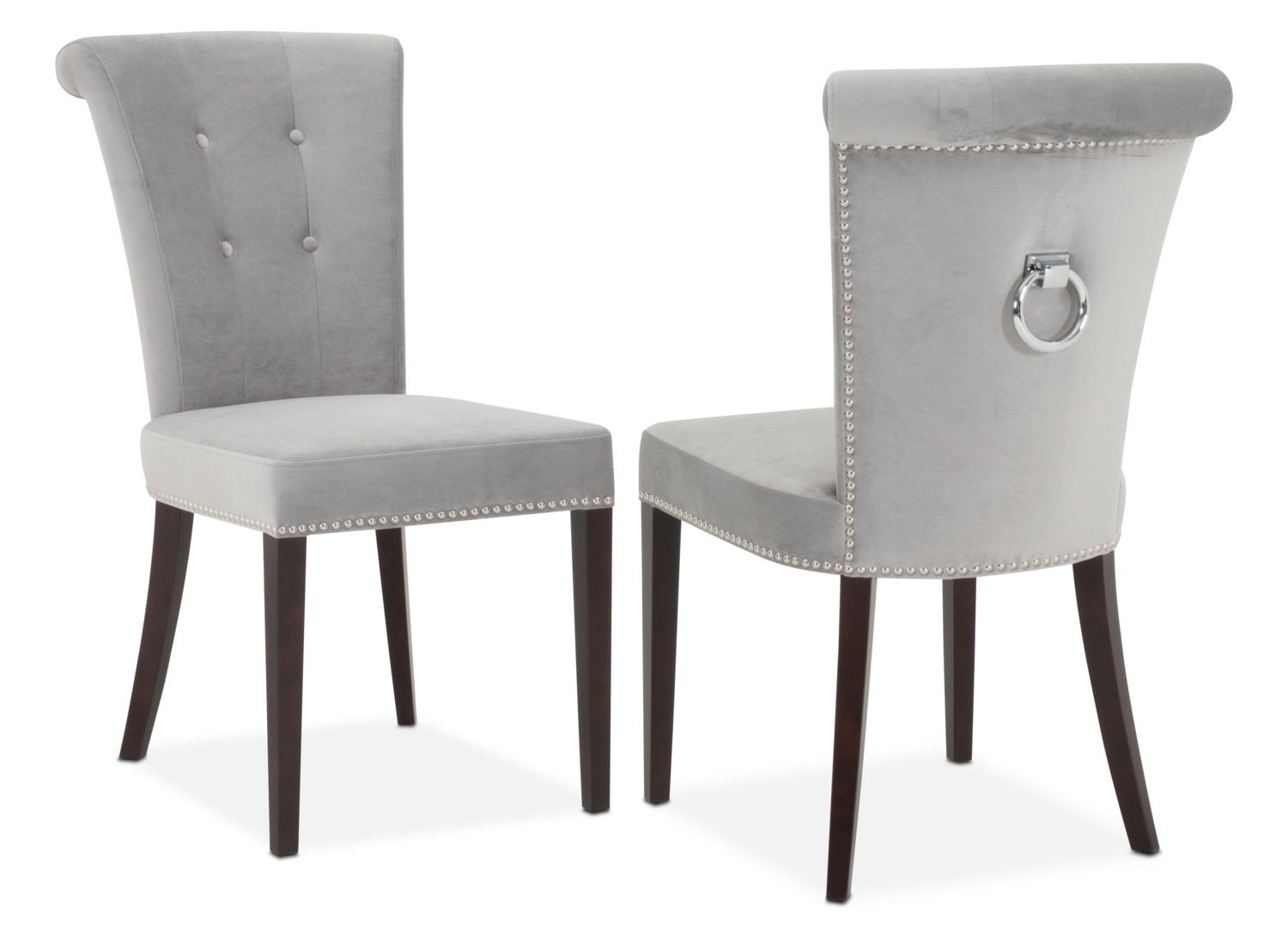 Put A Ring On It Outfit Your Dining Ensemble With The Polished Look Of The Calloway Side Chair Fitting Snugly Under Standard Dining Tabl Faixada De Casa Casas