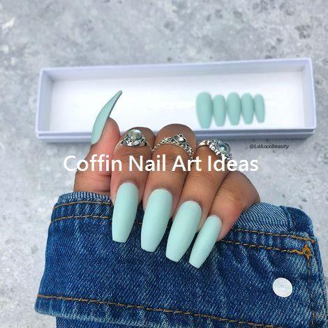 20 trendy coffin nail art designs nail  best coffin