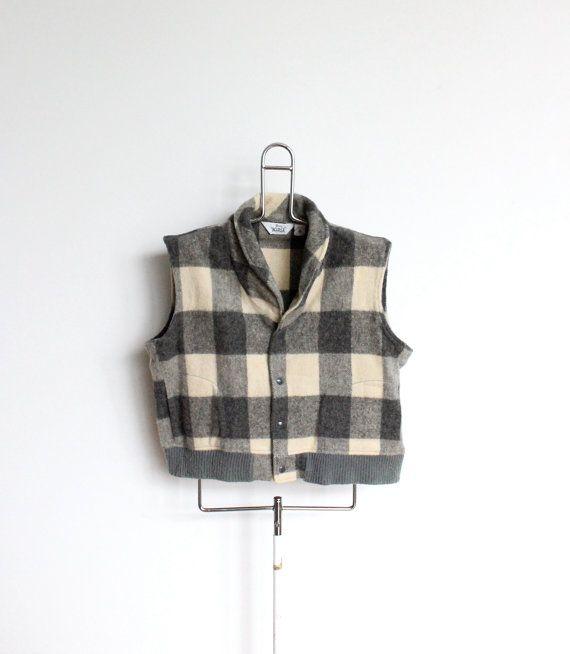 eedff684b Woolrich Buffalo Plaid Wool Blend Vest Mens Extra Large XL Pockets ...