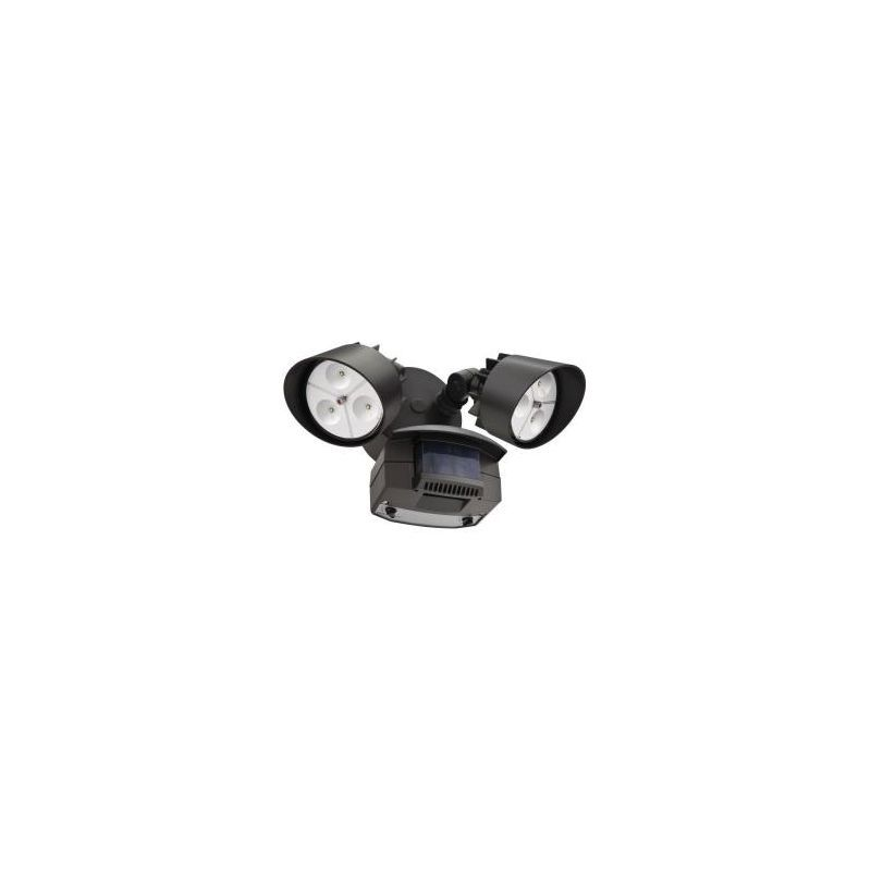 Lithonia Lighting Oflr 6lc 120 Mo Functional 2 Head Outdoor Led Floodlight With Bronze Commercial