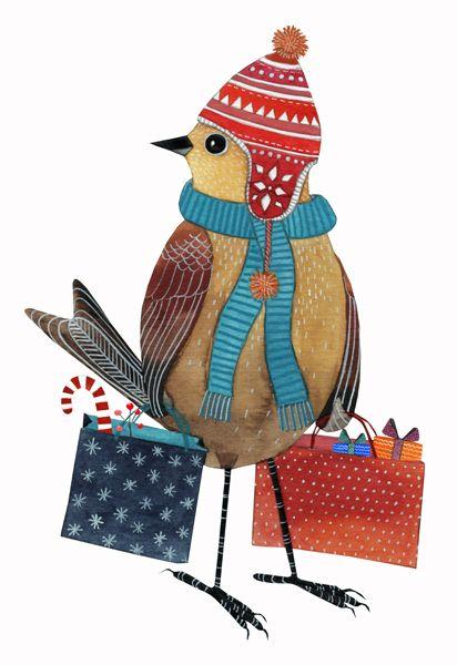 Shopping Bird by Geninne Zlatkis