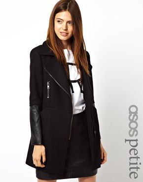 Image 1 of ASOS PETITE Exclusive Biker Coat | FASHION & STYLE ...