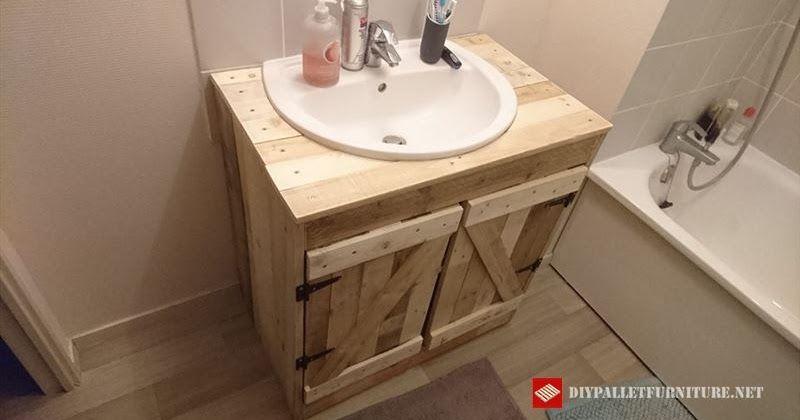 Mueble Para Lavamanos Hecho Con Palets Muebles De Bano Rusticos
