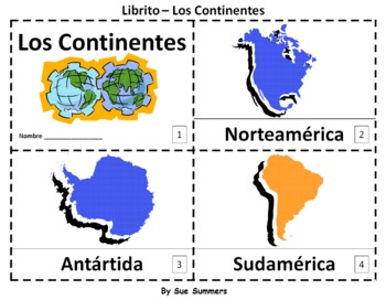 Continents in spanish 2 booklets los continentes emergent continents in spanish 2 emergent reader booklets by sue summers los continentes one with gumiabroncs Choice Image
