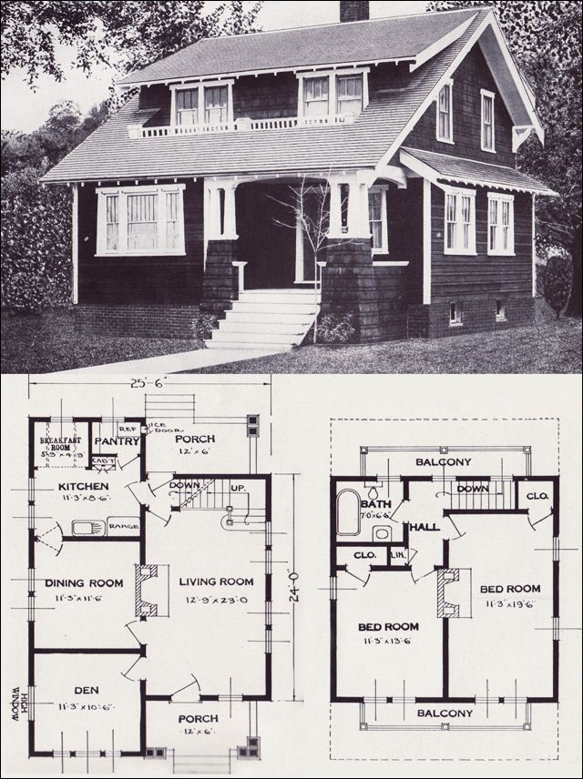 1920s Vintage Home Plans The Alta Vista Craftsman style Bungalow Standard Homes pany