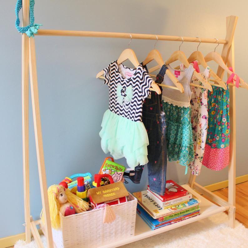Clothing Rack Dress Up Storage Childrens Decor Kids | Etsy ...