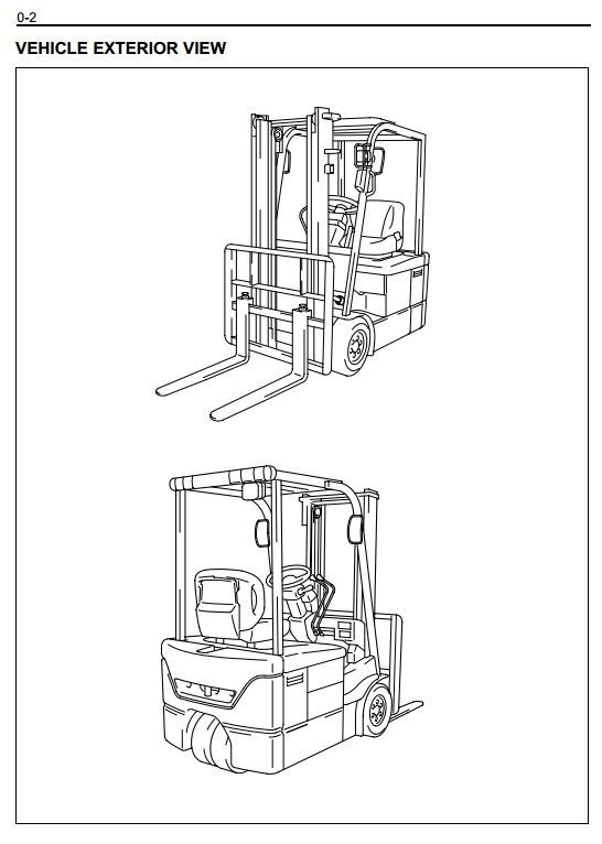 original illustrated factory workshop service manual for toyota electric forklift truck type
