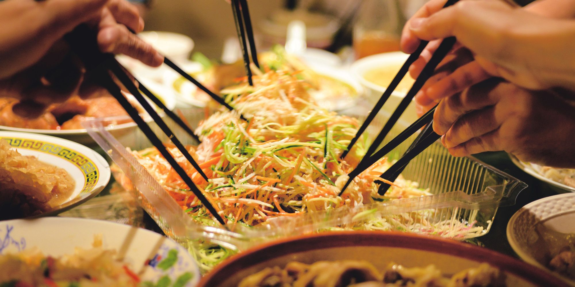 Chinese New Year Food Recipes Steamed Sea Bass Vegetable Fried Noodles Roast Chicken Fa Gao Chinese New Year Food Chinese Food Food