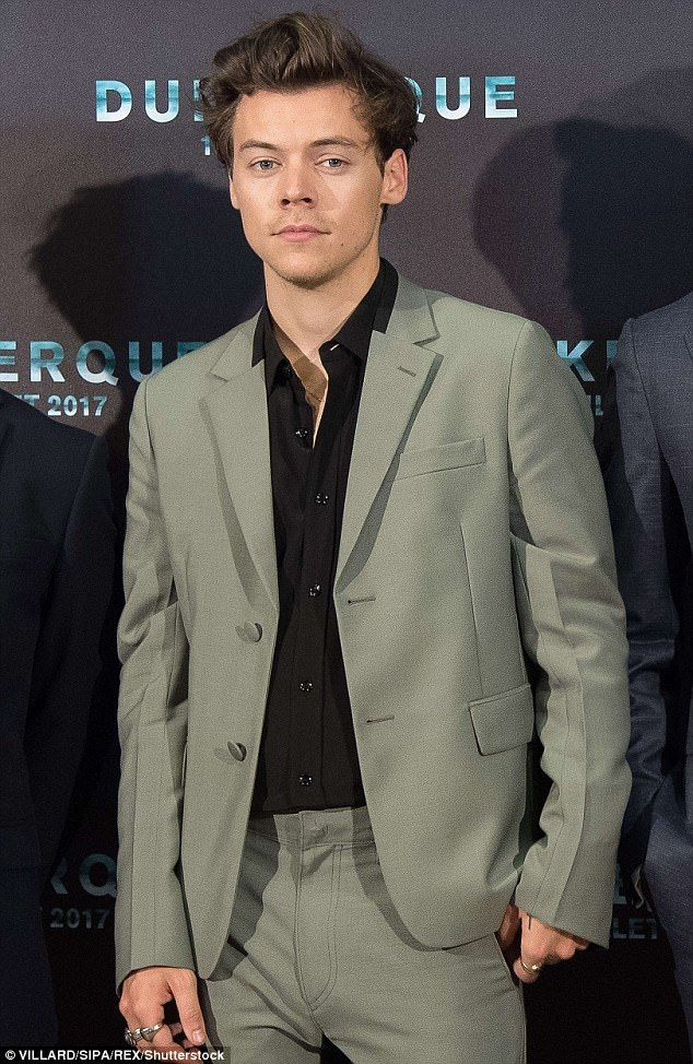 Hollywood hunk:Harry Styles looked every inch the movie star when he made a dazzling appearance at the premiere for his first movie Dunkirk in France on Sunday