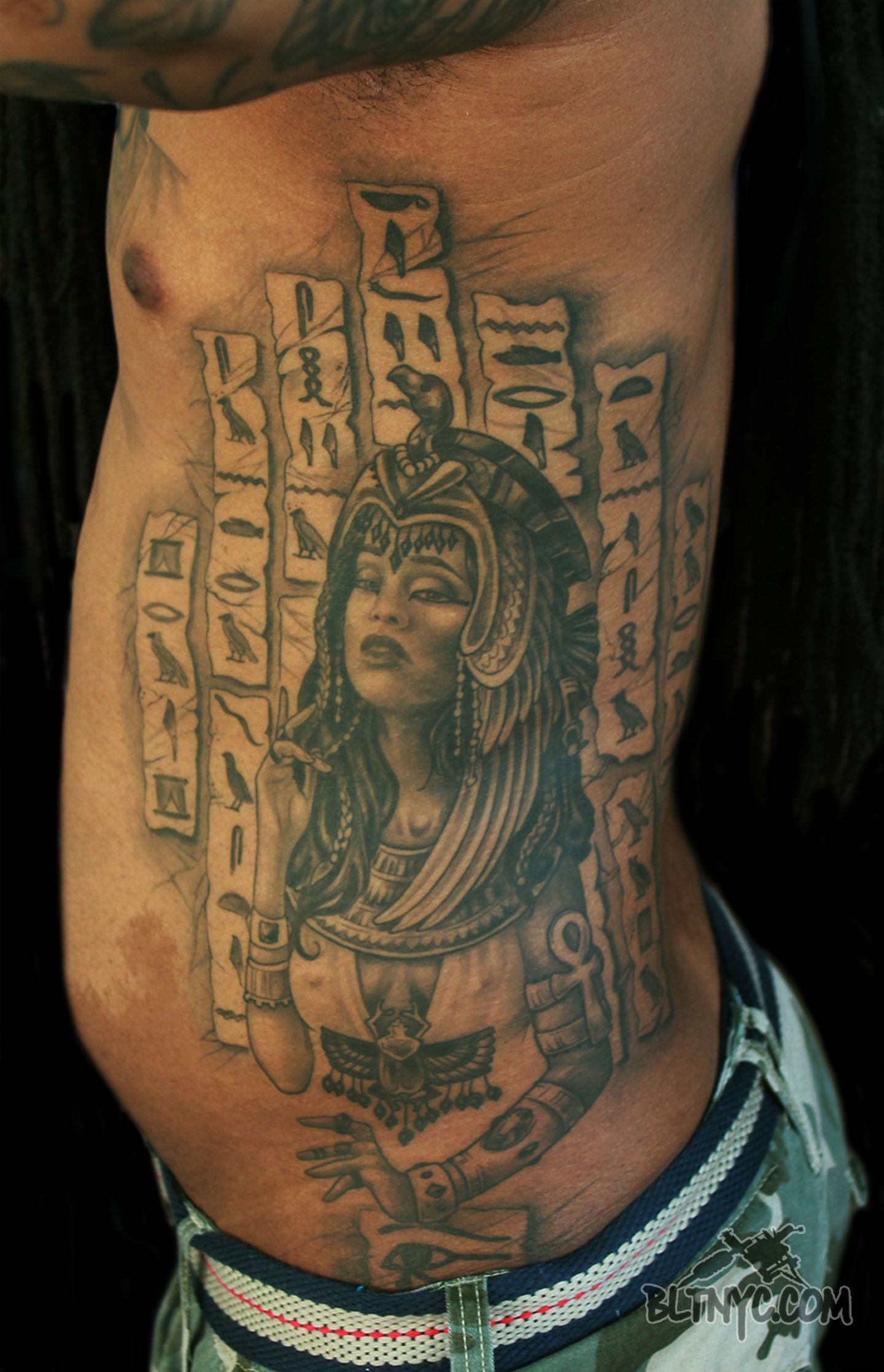 Egyptian Hieroglyphic Tattoos