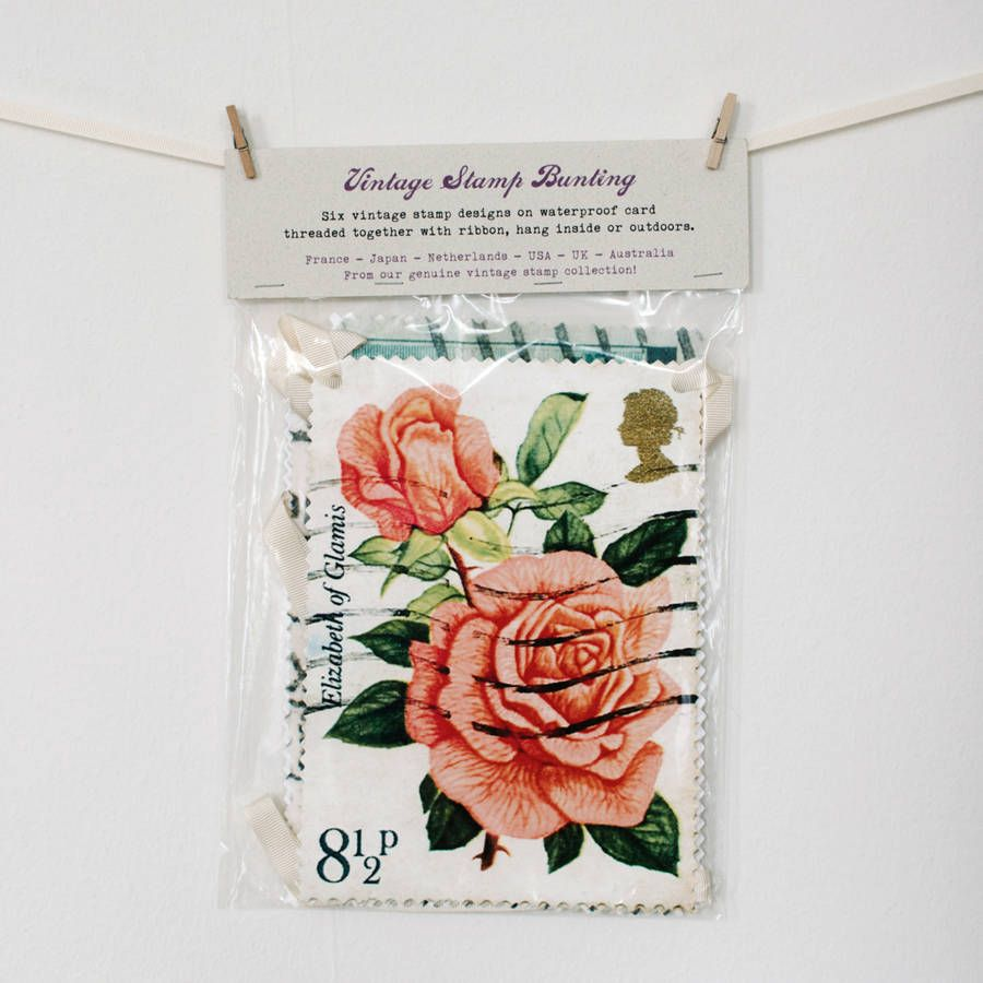 Postage Stamps bunting packaging