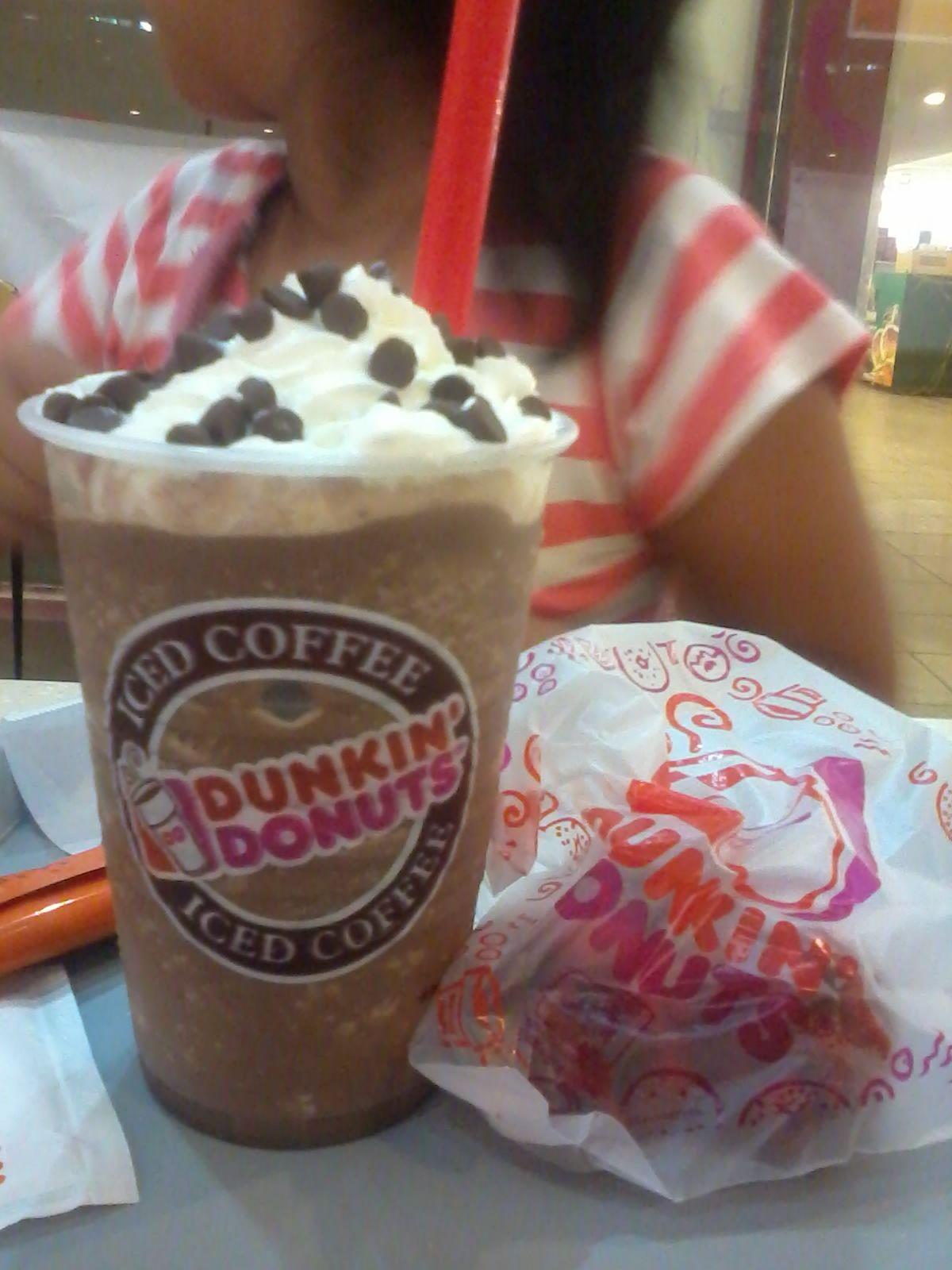 Mocha choco iced drink dunkin donuts Iced drinks