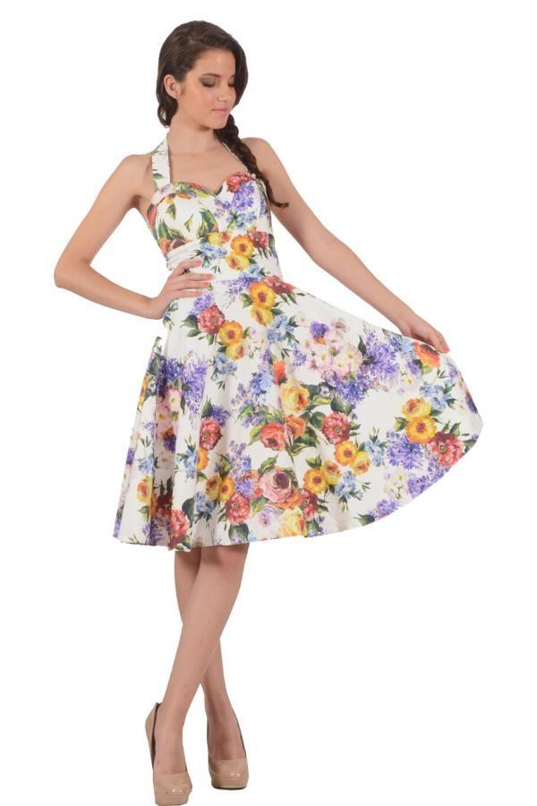 Φόρεμα καπαρντίνα εμπριμέ σε κλος γραμμή με επένδυση και στάυρωμα στο  στήθος και κούμπωμα στον λαιμό 94dc10a26b9