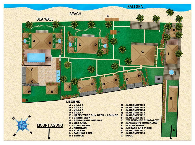 Scuba Seraya Liveaboards And Dive Resorts Resort Plan Hotel Room Plan Hotel Room Design Plan
