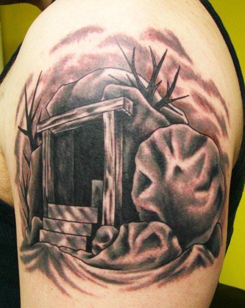 Empty Tomb Tattoo Empty Tomb Sleeve Tattoos