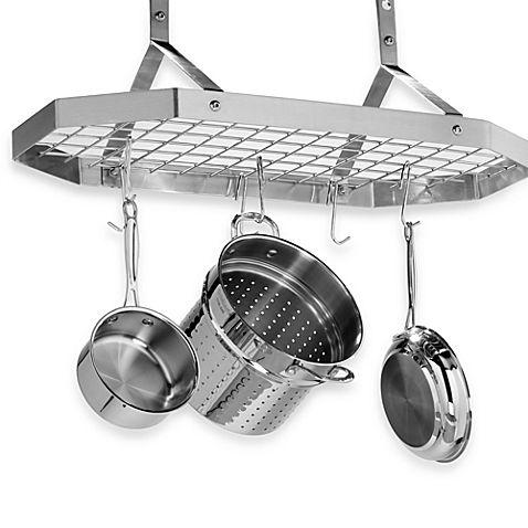 Cuisinart® Brushed Stainless Steel Octagonal Hanging Pot Rack $160