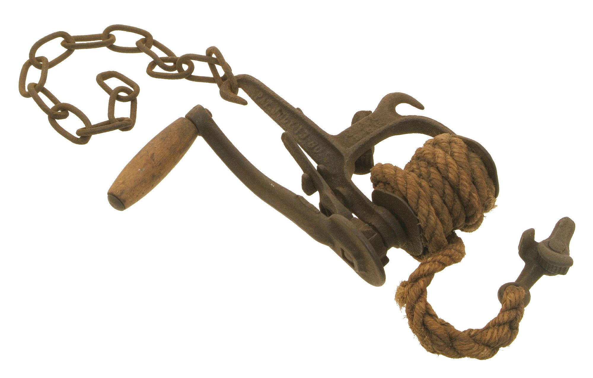 An early patent barbed wire stretcher by Reuben Ellwood, Sycamore ...