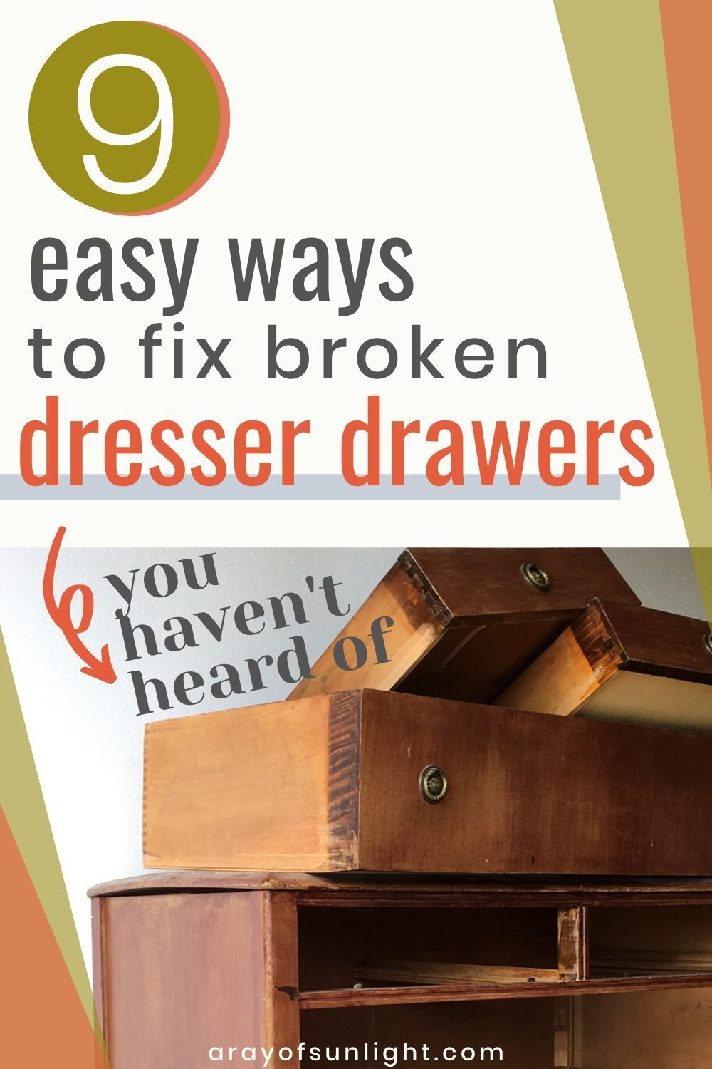 How To Fix Old Dresser Drawers That Stick Old Dresser Drawers Dresser Drawers Furniture Repair