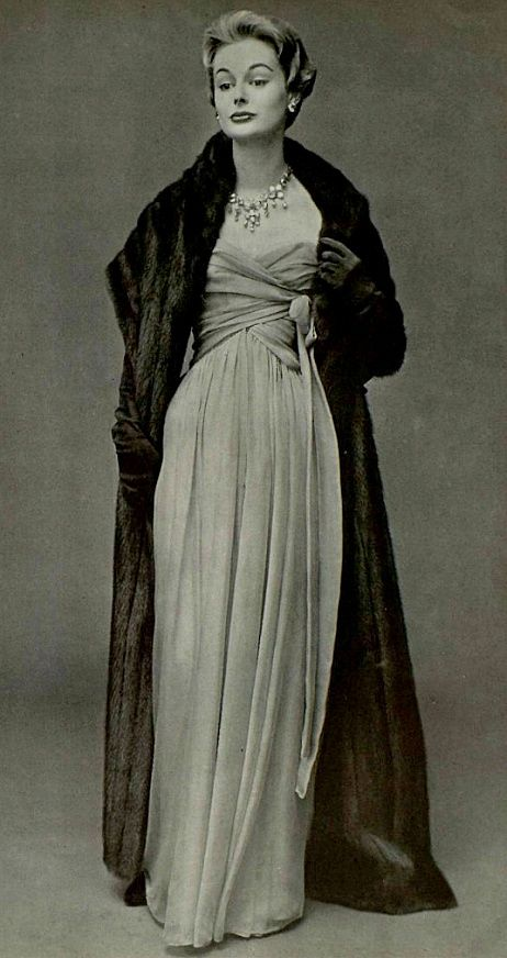 1956 Christian Dior evening gown Fur | Luxury | Vintage Fur | Fur in History | Fur Coat | Fur Jacket