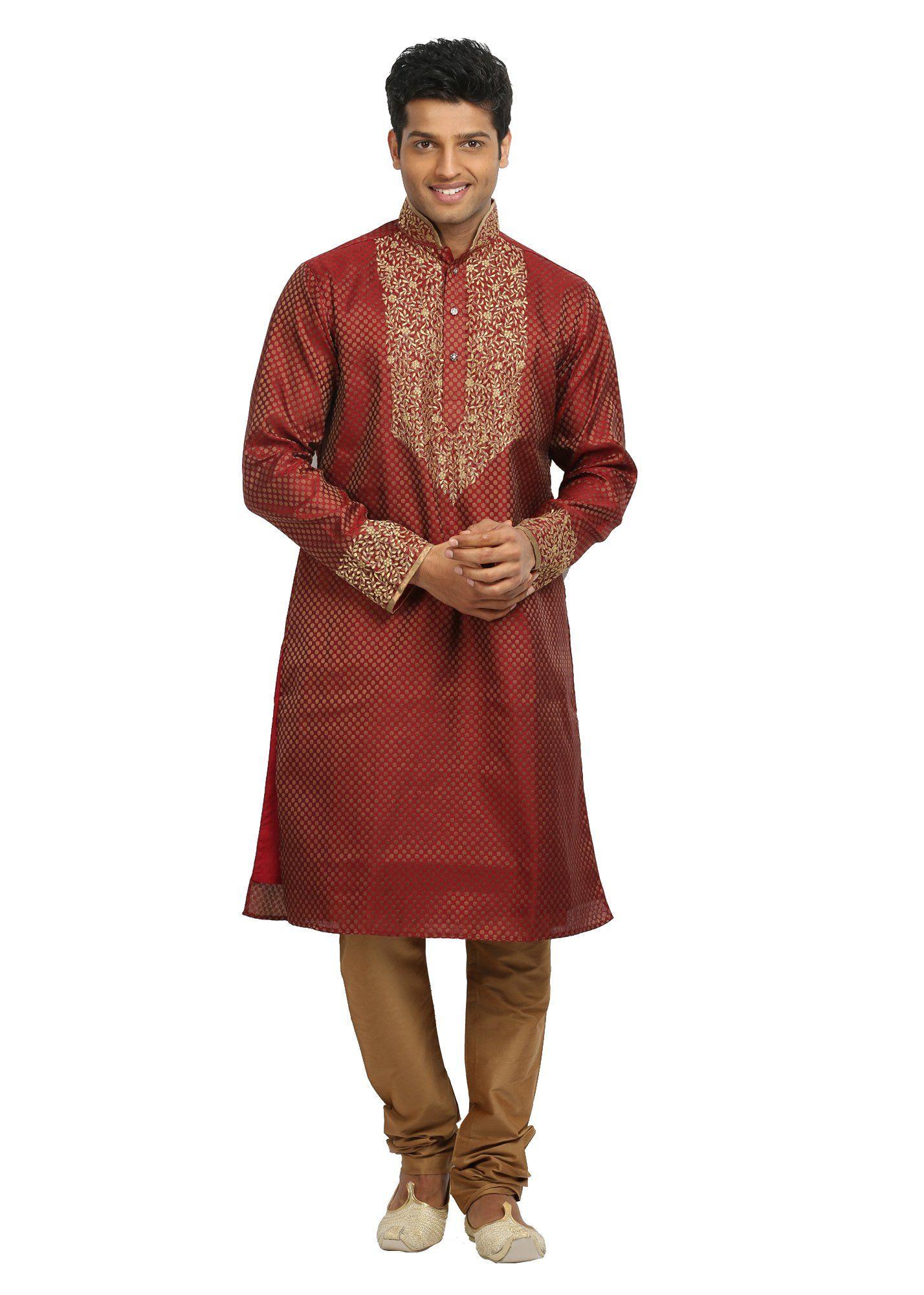 Rust indian wedding kurta pajama sherwani indian ethnic wear for
