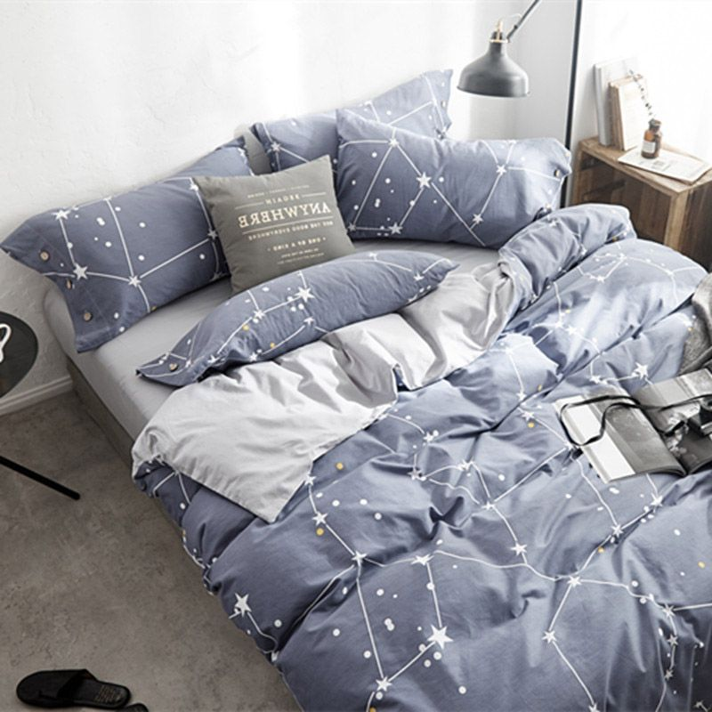 Stars Bed Sheets Nordic Bed Sheet Sets Luxury Bed Cover Queen Size Bed Sheets Set Nordic Bedding Bedspread Sets Pill Queen Bed Sheets Bed Sheet Sets Bed Sheets