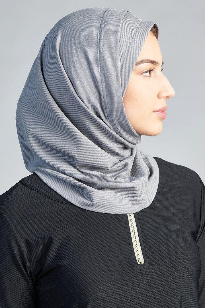 Active Hijab 2 0 Dark Gray In 2021 Sports Hijab Hijab Muslim Fashion Outfits