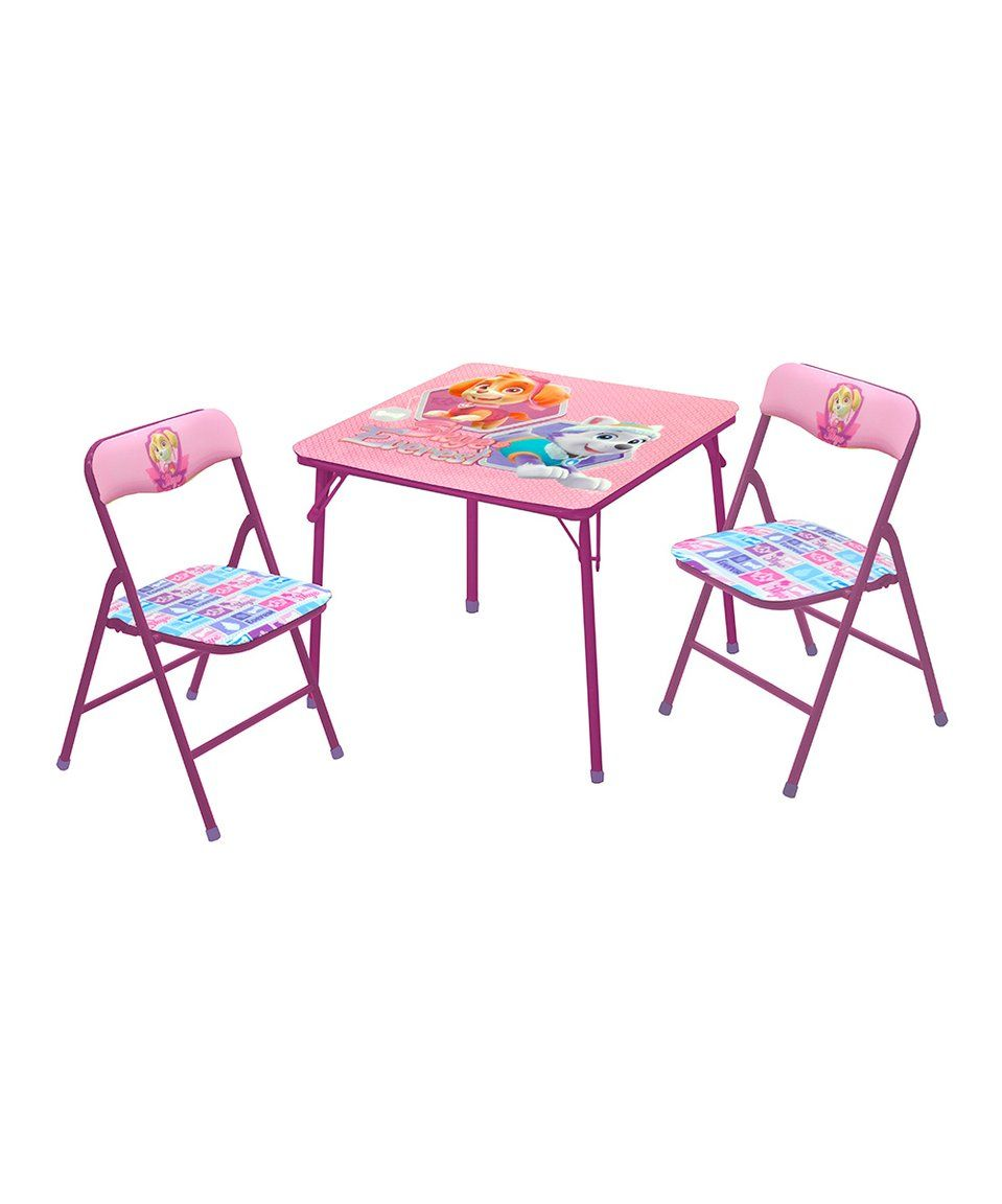 Bubble Guppies Table and Chair Set Assorted  sc 1 st  Pinterest & Take a look at this PAW Patrol Skye u0026 Everest Three-Piece Table ...