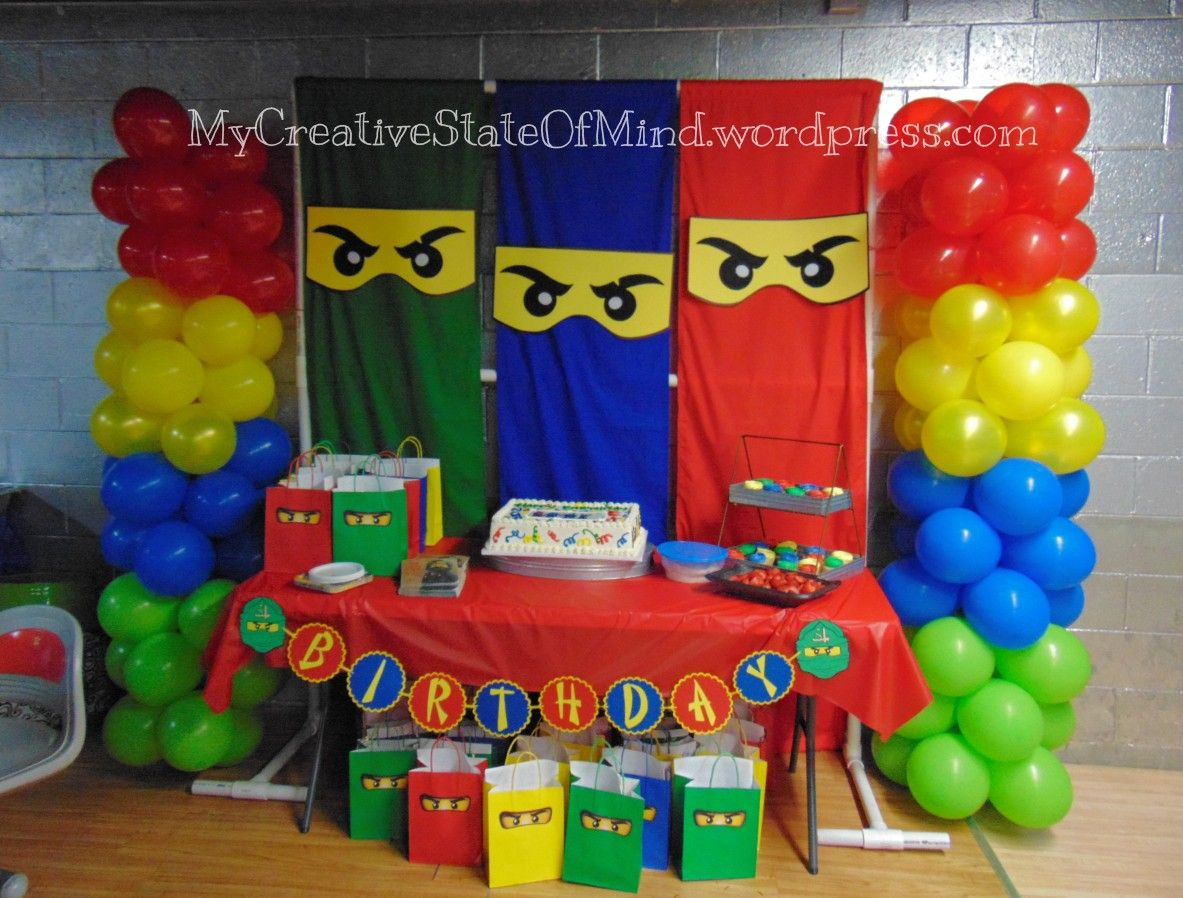 Lego Ninjago Birthday Backdrop Ninja Birthday Parties Ninja
