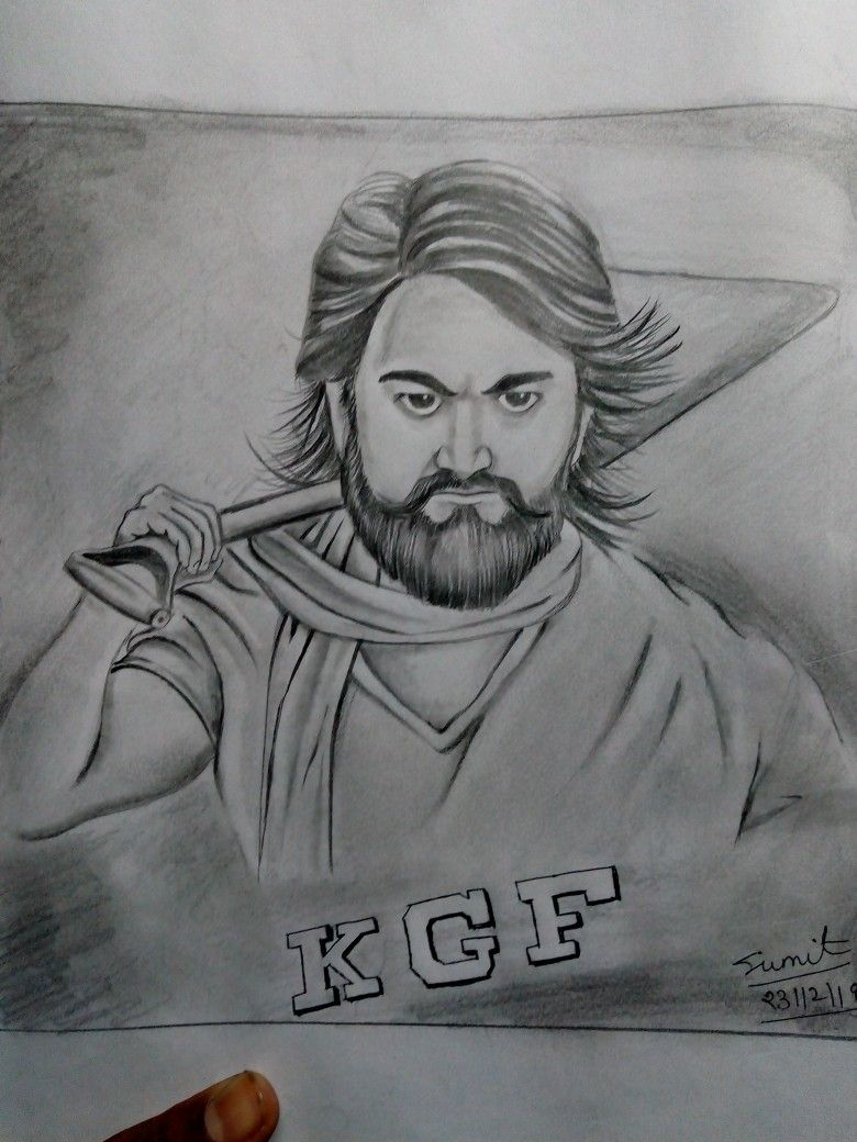 Kgf yash sketch art
