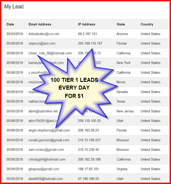 Never Before Seen Download 100 Tier 1 Leads Every Day For Only 1 Per Day Absolute No Brainer Online Marketing