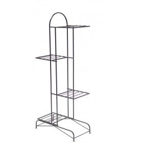 Wrought Iron 4 Pots Stand Zali With Images Garden Supply