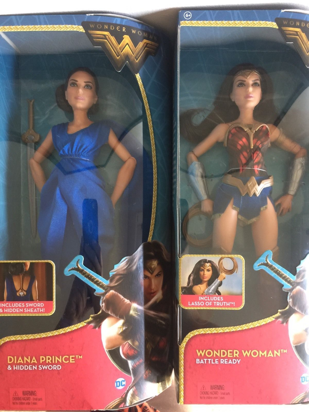 NEW Barbie Mattel DC Wonder Woman Diana Prince Lasso Doll or Blue Dress Gown