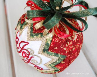 TUTORIAL No sew fabric ball ornament pattern by ornamentgirl ... : quilted ornaments to make - Adamdwight.com