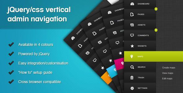 jquery css vertical admin navigation 17 Useful jQuery