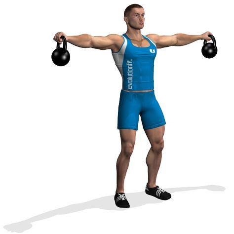 STANDING 2 KETTLEBELL LATERAL RAISE | Kettlebell, Kettlebell workout, Best kettlebell exercises