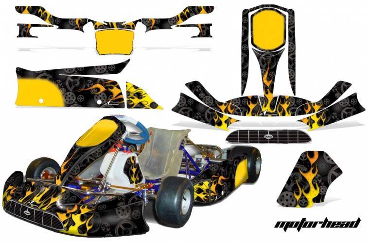 Tony Kart Venox Shifter Kart Graphics All Years Motorhead Black Kart Decal Wrap In Stock Now Red Line Superstore Shifter Helmet Design Go Kart