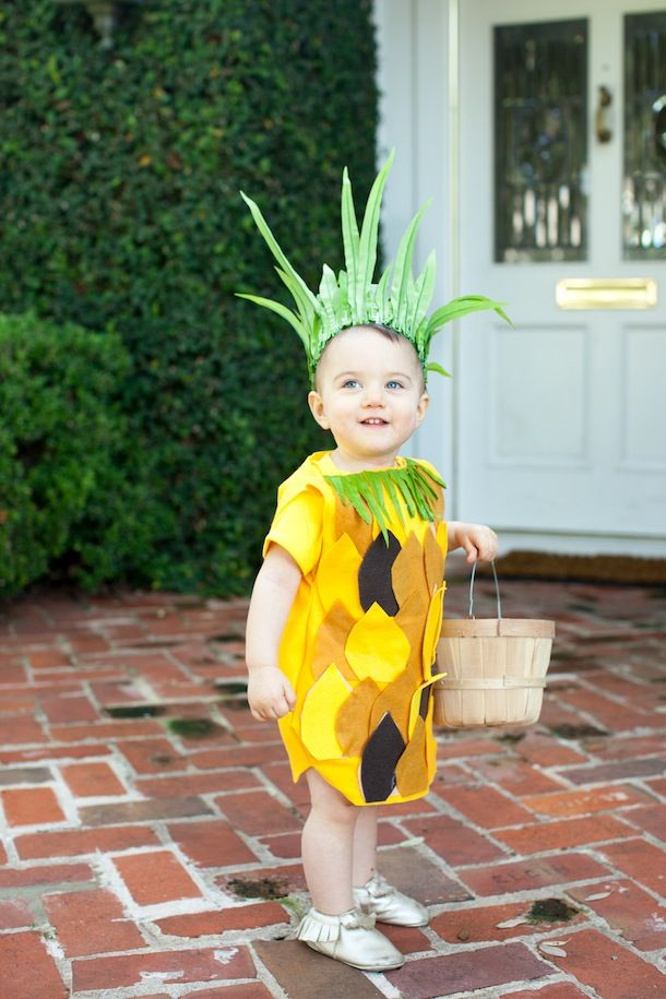 diy no sew pineapple costume - Halloween Costume Patterns For Kids
