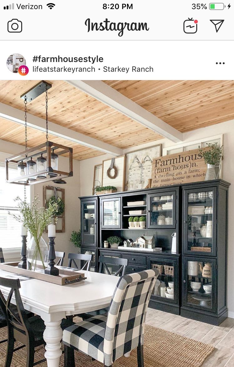 The Ceiling With Images Country Dining Rooms Farmhouse