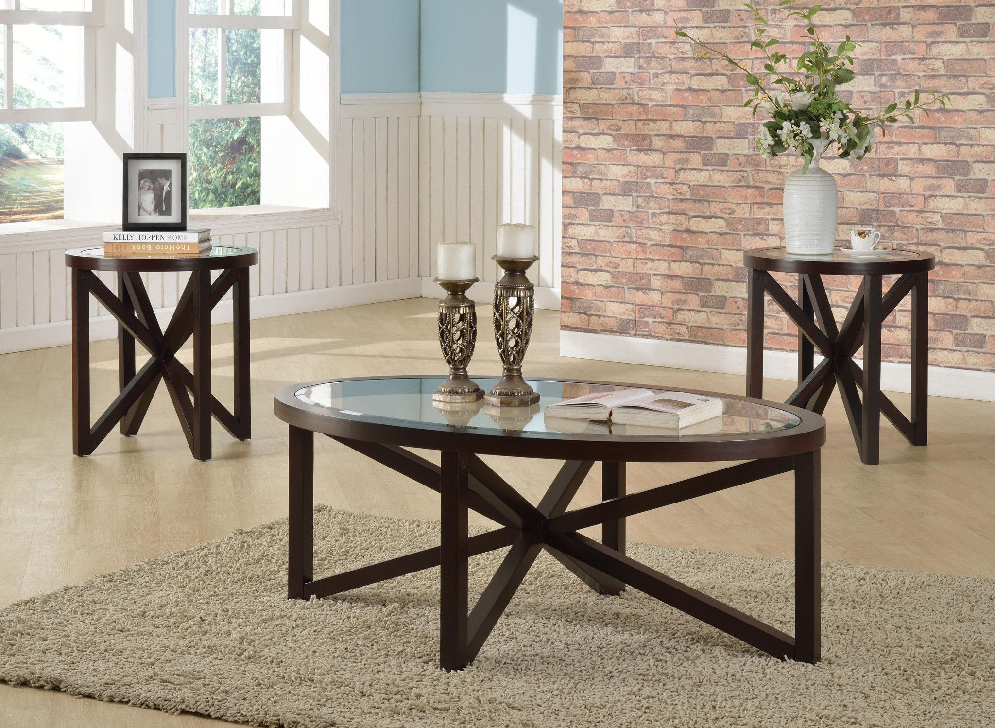 Cole 3 Piece Table Set Coffee Table And 2 End Tables 29900 Coffee