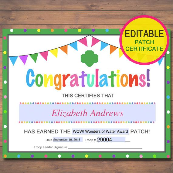EDITABLE Certificates, Badge, Patch And Award Certificate